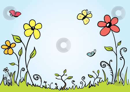Spring Background stock vector clipart, Vector Spring background with room for your text by Claudiu Badea