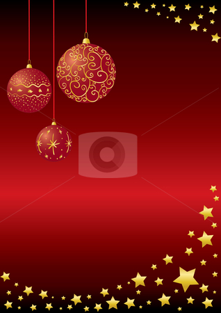 Christmas Baubles stock vector clipart, Vector christmas baubles background by Claudiu Badea