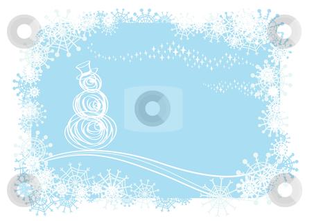 Winter background stock vector clipart, Vector winter illustration by Claudiu Badea