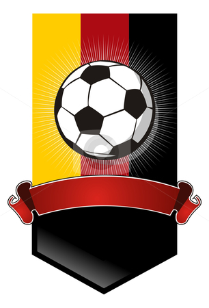 Germany Soccer Championship banner stock vector