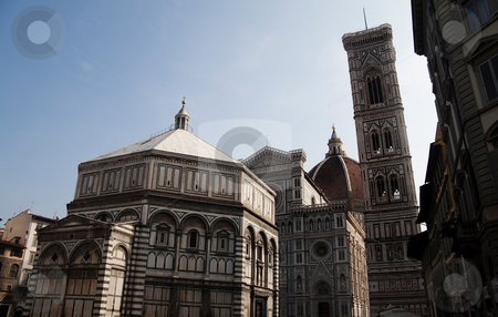 Florence Cathedral stock photo, The Duomo Cathedral and Baptistry of Florence, Italy by Kevin Tietz