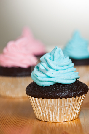 Cupcakes stock photo, A shot of delicious cupcakes on a table by Suprijono Suharjoto