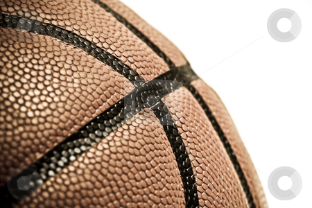 Basketball stock photo, An isolated shot of a leather basketball by Suprijono Suharjoto