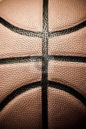 Basketball stock photo, A closeup shot of a leather basketball by Suprijono Suharjoto