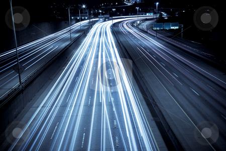 Rush hour traffic stock photo, A time exposure shot of rush hour traffic by Suprijono Suharjoto