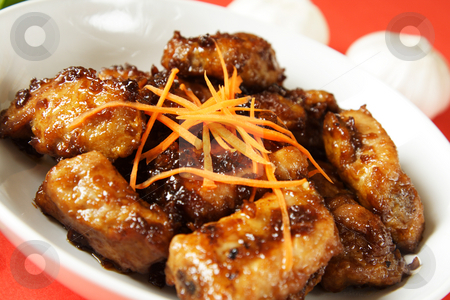 Spare ribs stock photo, Pork spare ribs with sweet chili sauce by Suprijono Suharjoto