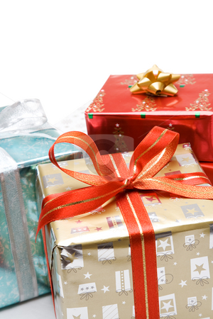 Christmas gifts stock photo, A shot of various packages of christmas gifts by Suprijono Suharjoto