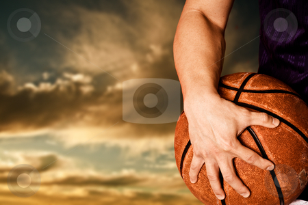 Basketball player stock photo, A shot of a basketball player outdoor by Suprijono Suharjoto