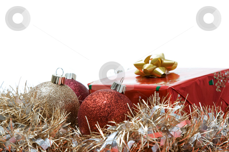 Christmas gifts stock photo, A shot of christmas gifts and ornaments with copyspace by Suprijono Suharjoto