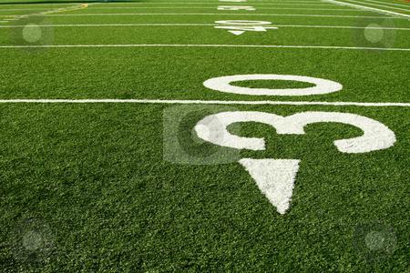 Football field stock photo, A shot of an american football field by Suprijono Suharjoto