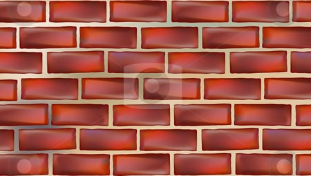 Wall background stock photo, Illustration drawing of beautiful red wall background by Su Li