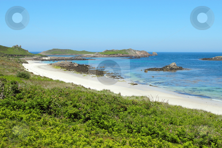Great bay and little bay beaches, St. Martin's Isles of Scilly. stock photo, Great bay and little bay beaches, St. Martin's Isles of Scilly. by Stephen Rees