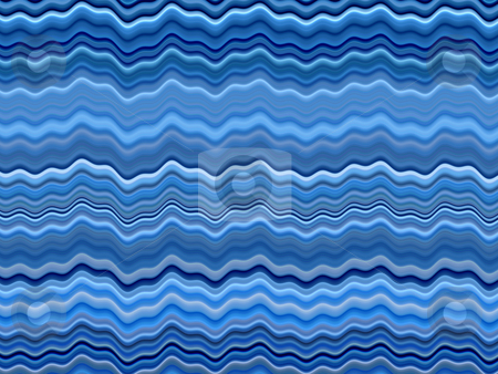 Wavy blue color stripes abstract background. stock photo, Wavy blue color stripes abstract background. by Stephen Rees