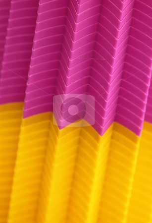 Plastic stack stock photo, Colorful plastic cubs stacked together creating an abstract by Henrik Lehnerer