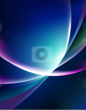 Abstract light background stock photo, Illustration drawing of color ray light in dark background by Su Li