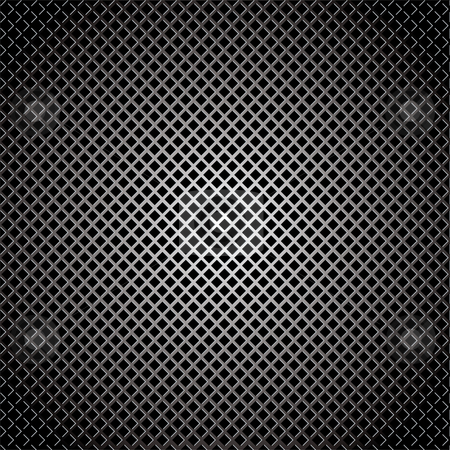 Diamond silver grill background stock vector clipart, Abstract silver diamond grill background with light reflection by Michael Travers