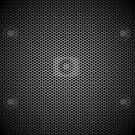 Hexagon metal background stock vector clipart, Hexagon metal background with light reflection ideal wallpaper by Michael Travers