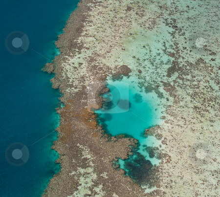 Great Barrier Reef stock photo, Aerial view of Great Barrier Reef off the coast of Australia by Steven Heap