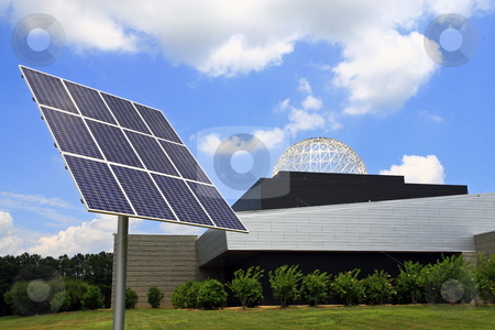 Solar power  stock photo, Solar power under beautiful sky?s by Jack Schiffer