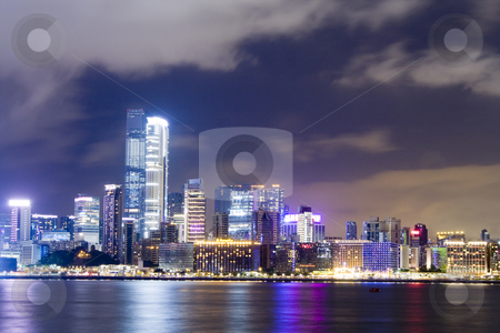 Hong kong night stock photo, Hong kong night by Keng po Leung