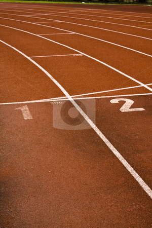 Running lanes on a track in play gorund  stock photo, Running lanes on a track in play gorund by Keng po Leung