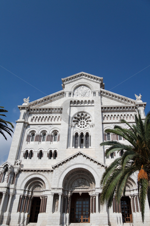 Cathedral stock photo, The main church of the people of Monaco by Kevin Tietz
