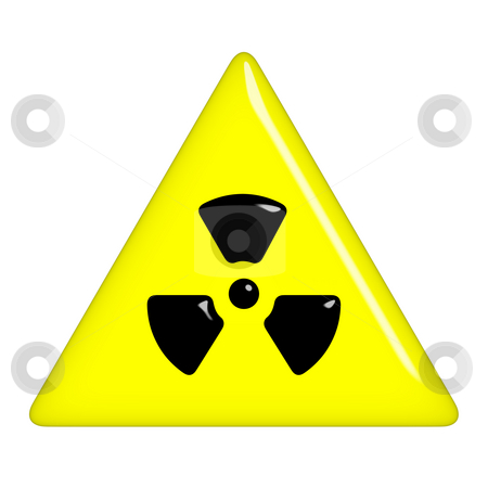 3D Radioactive Symbol stock photo, 3d radioactive symbol isolated in white by Georgios Kollidas
