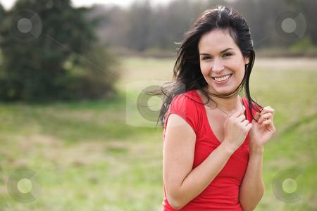 Beautiful summer woman outdoor stock photo, A shot of a beautiful hispanic woman outdoor in summer by Suprijono Suharjoto