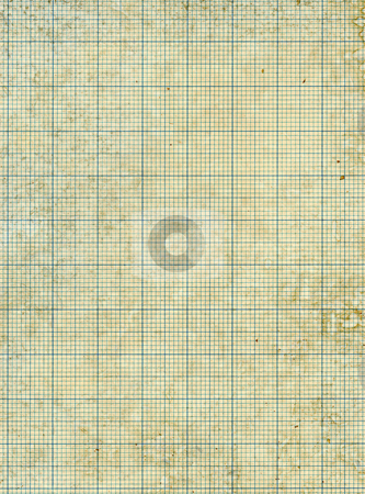 Old vintage stained discolored dirty graph paper. stock photo, Old vintage stained discolored dirty graph paper. by Stephen Rees