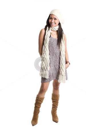 Beautiful asian woman stock photo, An isolated shot of a beautiful asian woman by Suprijono Suharjoto