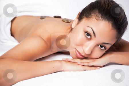 Beauty spa woman stock photo, A shot of a black woman lying down at a spa by Suprijono Suharjoto