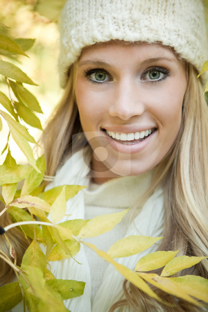 Beautiful woman stock photo, A portrait of a beautiful woman outdoor by Suprijono Suharjoto