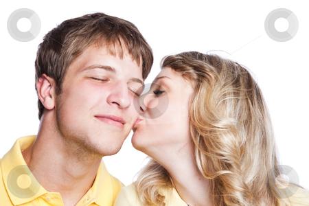 Couple in love stock photo, A portrait of a beautiful caucasian couple in love by Suprijono Suharjoto