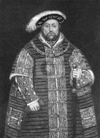 King Henry VIII stock photo, Original engraving by J Cooke of Henry VIII circa 1850 showing him in 1560. Public domain image by virtue of age. by Martin Crowdy