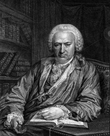Charles Bonnet stock photo, Engraving of Swiss naturalist and philosophical writer Charles Bonnet. Engraved by I.F. Clemens from original painting by I. Iuel in 1777. Public domain image by virtue of age. by Martin Crowdy