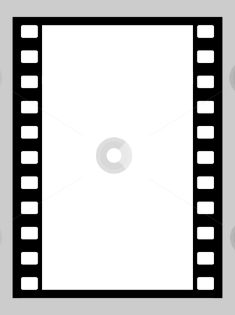 35mm film strip stock photo, Illustration of blank 35mm film strip with copy space. by Martin Crowdy