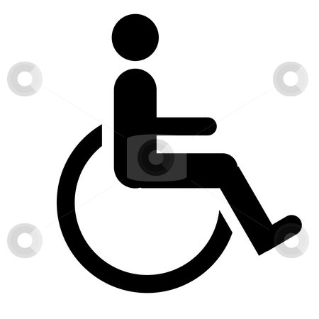 Disabled sign stock photo, Disabled sign, isolated on a white background. by Martin Crowdy