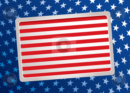 American inspired background stock vector clipart, United states of america inspired stars and bars background by Michael Travers