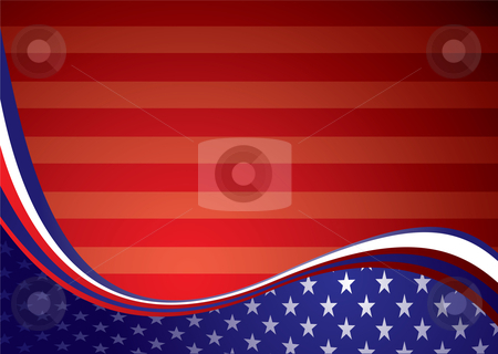 USA american background stock vector clipart, American inspired background illustration with stars and stripes by Michael Travers