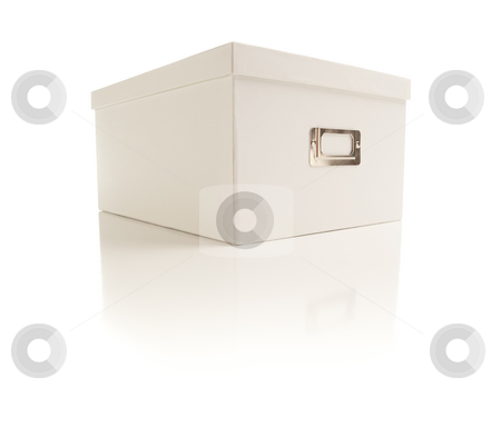 White File Box Isolated on Background stock photo, White File Box Isolated on a White Background. by Andy Dean