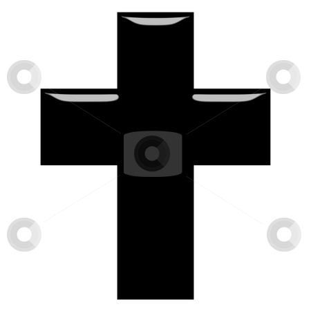 3D Cross  stock photo, 3d Cross isolated in white by Georgios Kollidas
