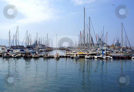 Harbour stock photo, Yachts docked in a harbour on the South African coastline by Mornay Van Vuuren