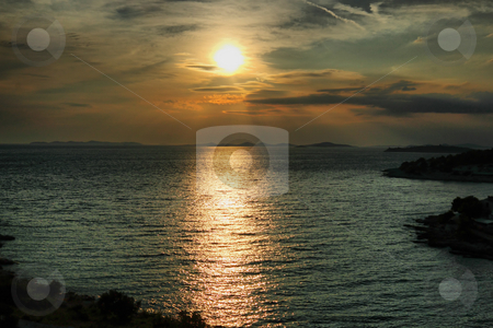 Dramatic sunset with beautiful clouds  stock photo, Dramatic sunset with beautiful clouds in high dynamic range by Artush