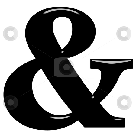3D Ampersand stock photo, 3d ampersand isolated in white by Georgios Kollidas