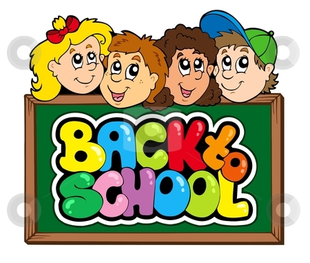 Back to school theme 5 stock vector clipart, Back to school theme 5 - vector illustration. by Klara Viskova