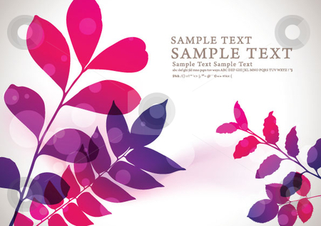 Abstract flora background 01  stock vector clipart, Abstract flora background by Kinji Lim