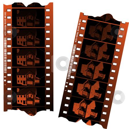 Negative fillm strips  stock photo, Negative fillm strips against white background by Richard Laschon