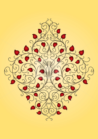 Floral ornament (vector) stock vector clipart, More variations in my portfolio by Mila Petkova