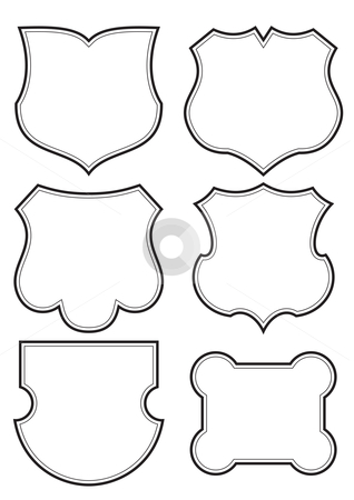 Shields set (vector) stock vector clipart,  by Mila Petkova