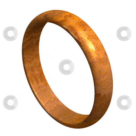 Wedding ring in wood (3D)  stock photo, Wedding ring in wood (3D made) by Fabrizio Zanier